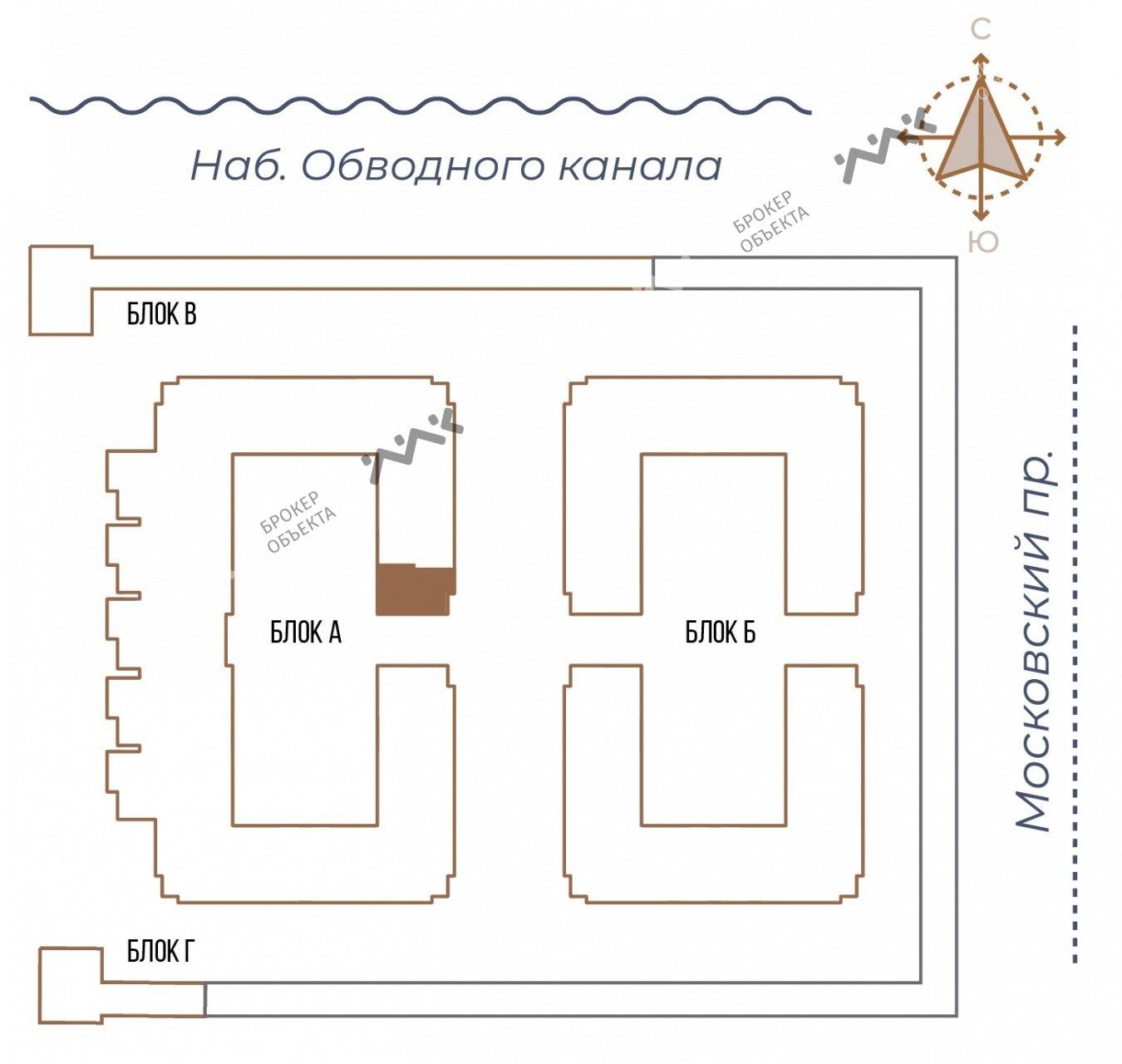 Планировка Московский проспект, д.65. Лот № 27730759