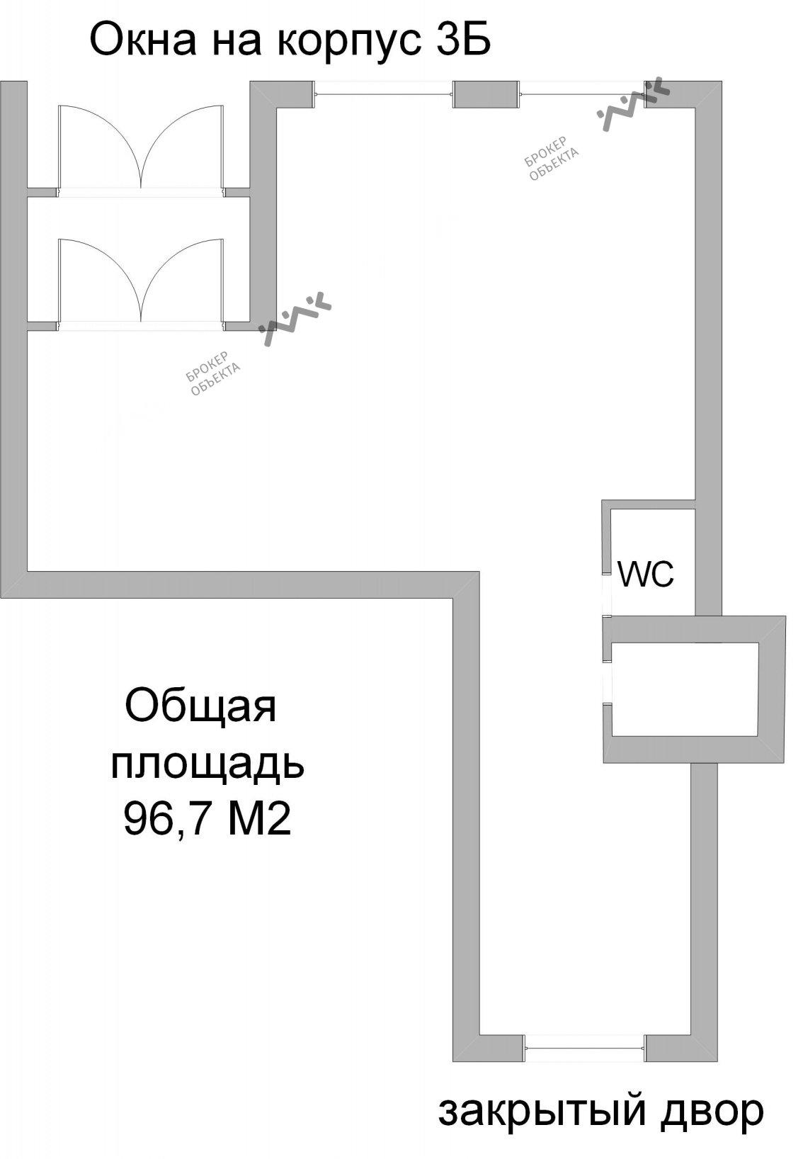 Планировка Кременчугская ул., д.9, к.2. Лот № 848335