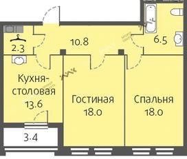 Планировка Кременчугская ул., д.13. Лот № f3266115