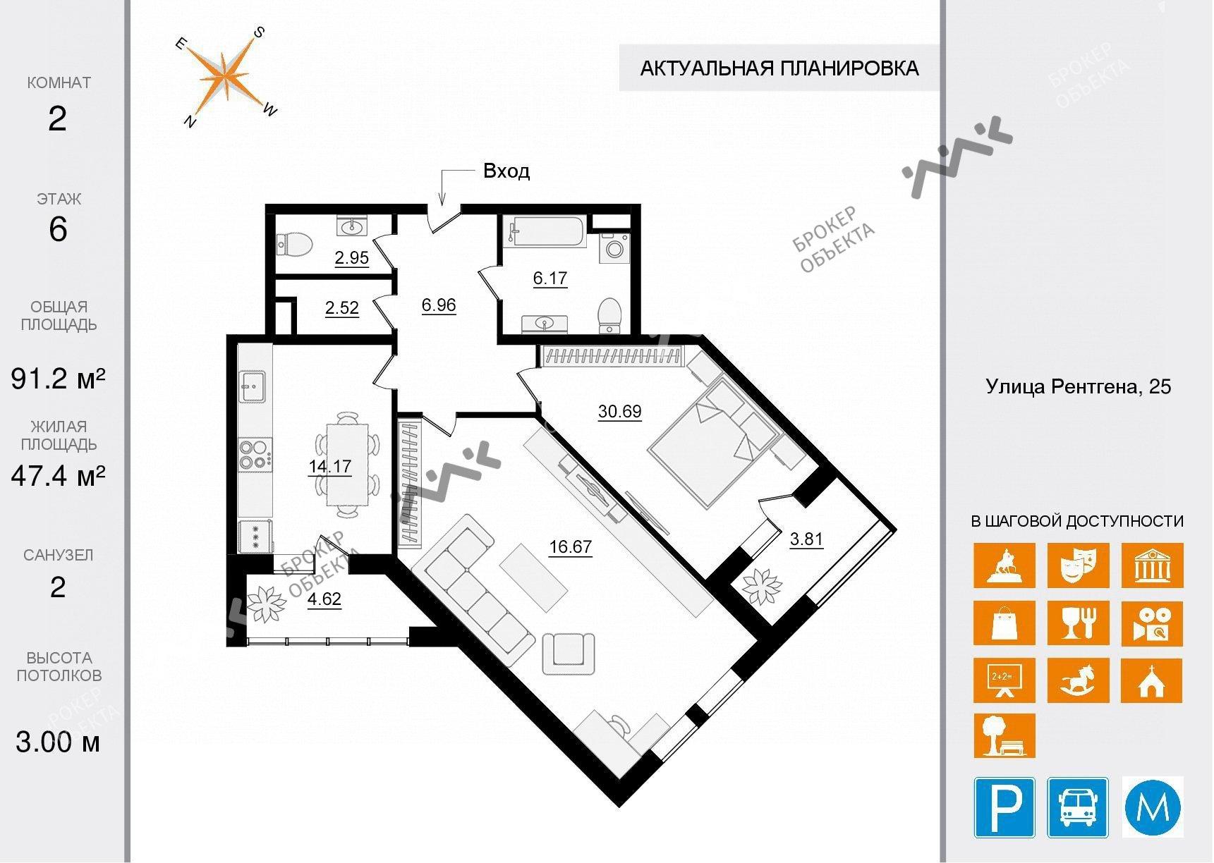 Планировка Чапаева ул., д.28. Лот № 34376725