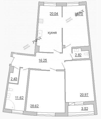 Планировка Пионерская ул., д.50. Лот № 21098647