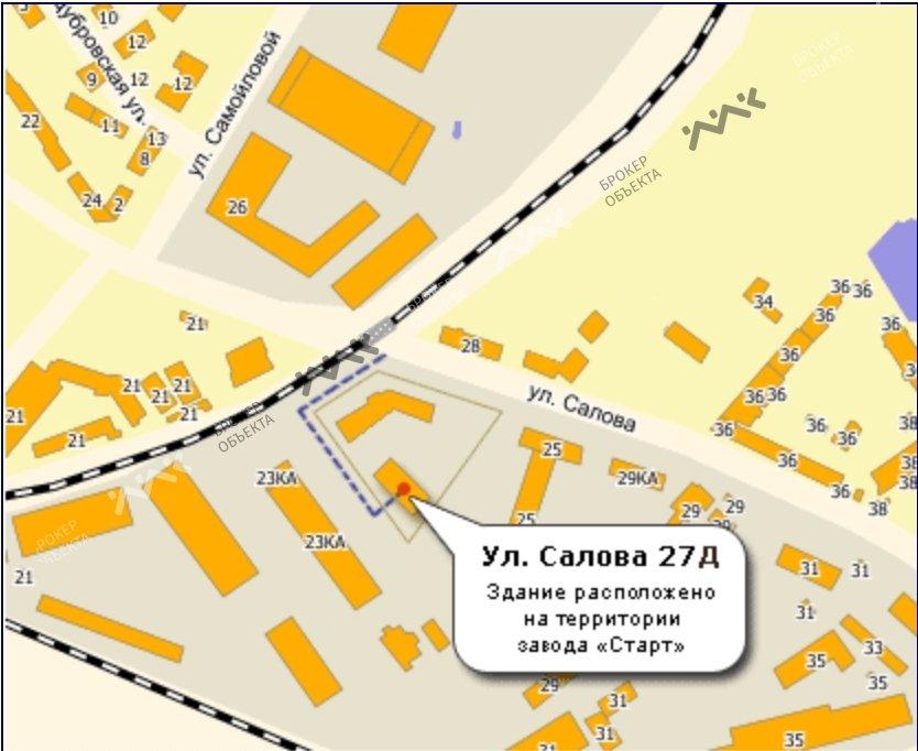 Планировка Салова ул., д.27, лит.Д. Лот № 2314397