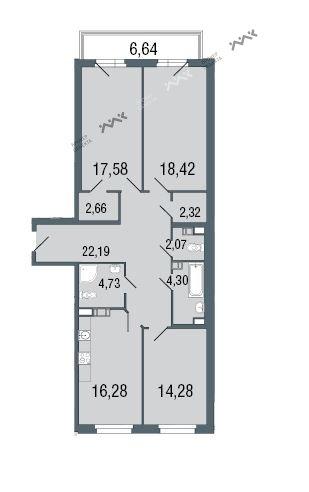 Планировка Липовая алл., д.15, лит.А. Лот № f3266180