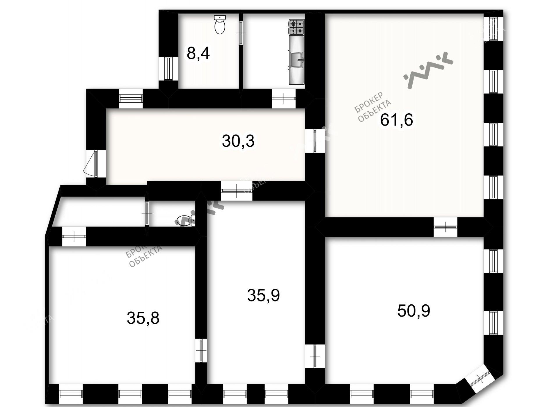 Планировка Невский проспект, д.43. Лот № 1346354