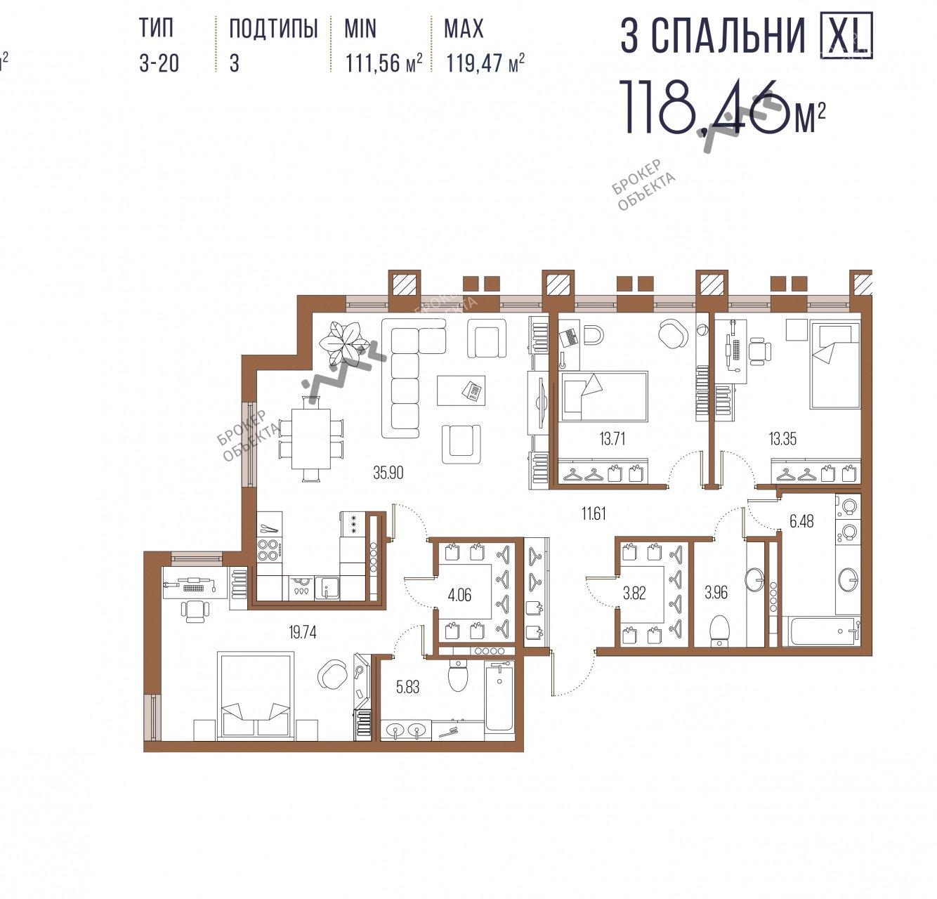 Планировка Московский пр., д.65. Лот № f18215262