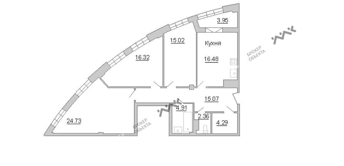 Планировка Пионерская ул., д.50, лит.А. Лот № 14377111