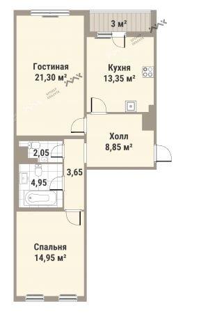 Планировка Медиков пр., д.10. Лот № f3262495