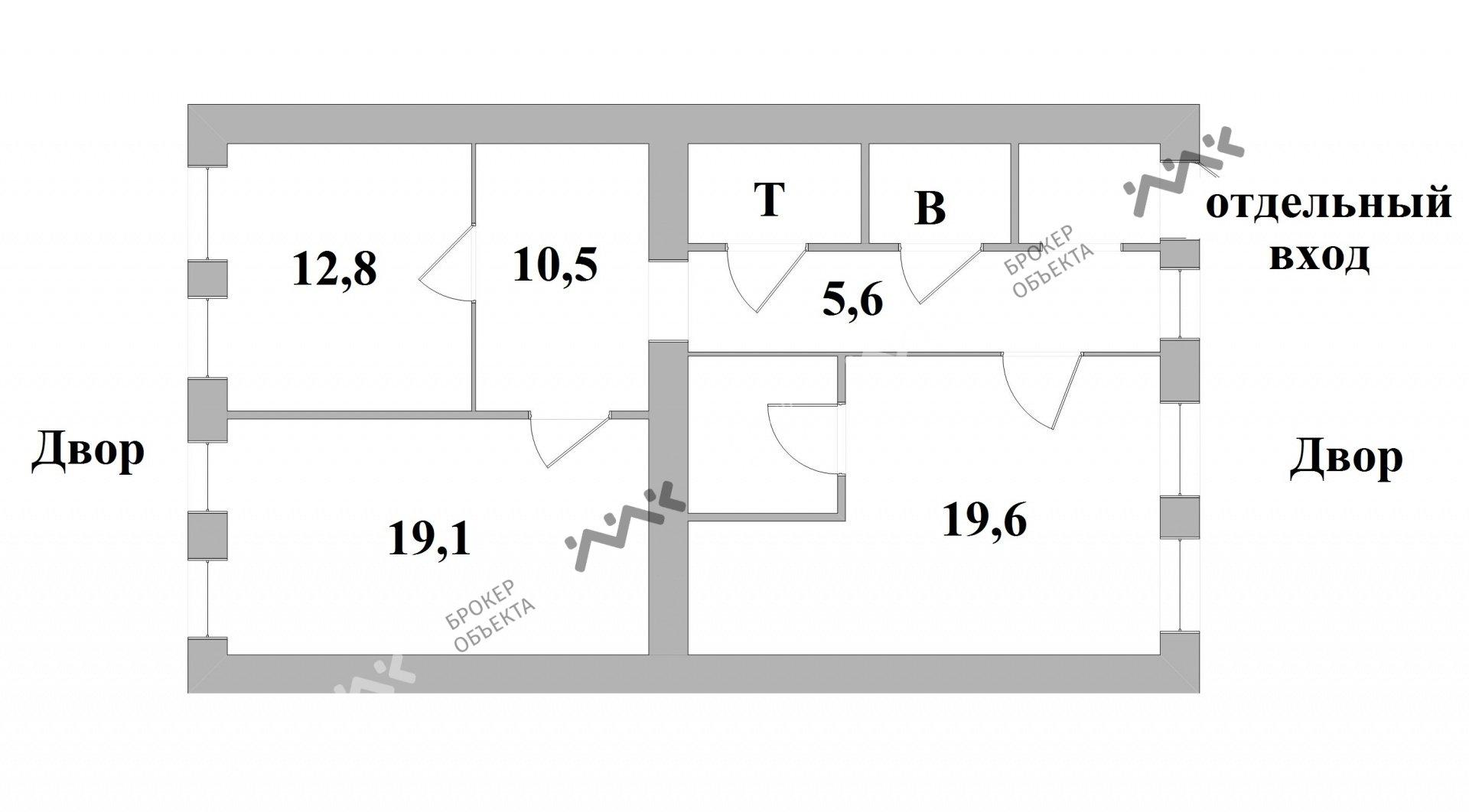Планировка Реки Мойки наб., д.28. Лот № 3121430