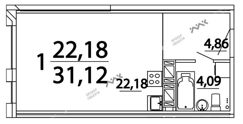 Планировка Александра Невского пл., д.10. Лот № f3262791