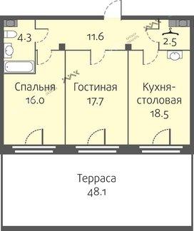 Планировка Кременчугская ул., д.11, к.3. Лот № f3266076