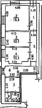 Планировка Захарьевская ул., д.17. Лот № 3261307