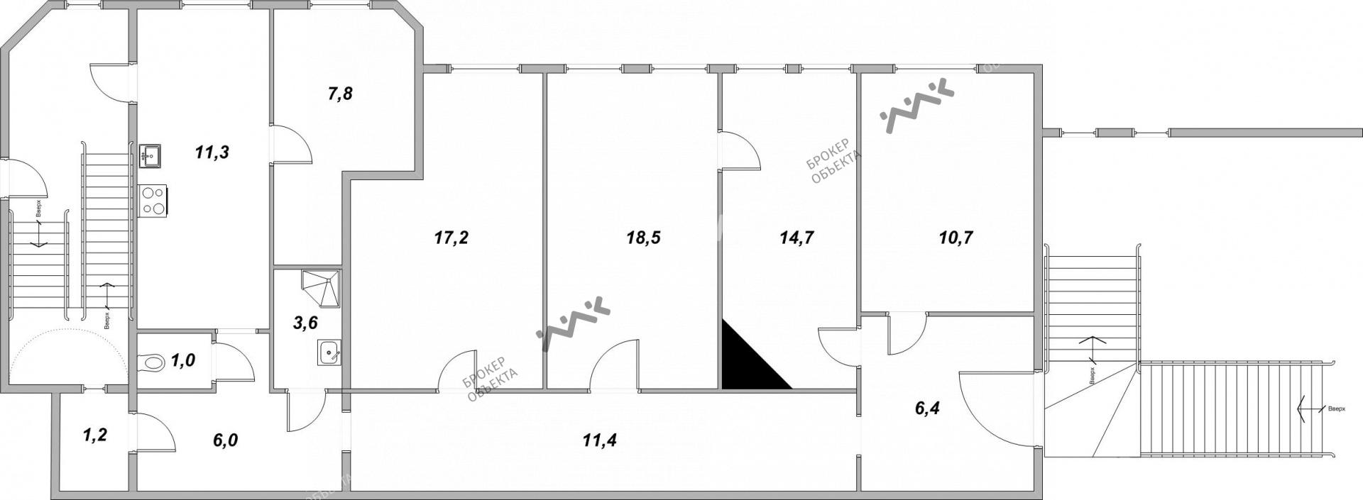 Планировка 11-я В.О. линия, д.46. Лот № 1890106