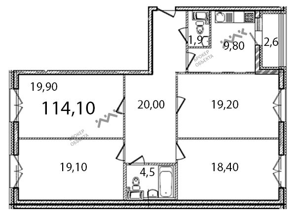 Планировка Кременчугская ул., д.13. Лот № f3264743