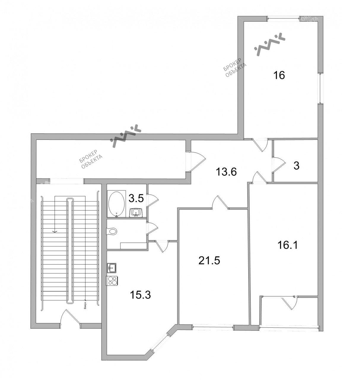 Планировка Ворошилова ул., д.29, к.1. Лот № 6378032