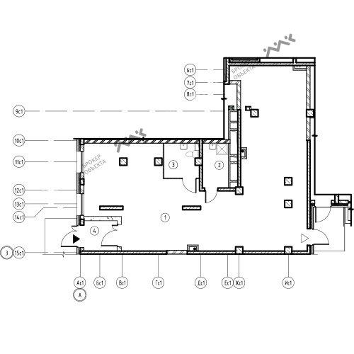 Планировка Лагоды ул., к.7, лит.А. Лот № 11771463