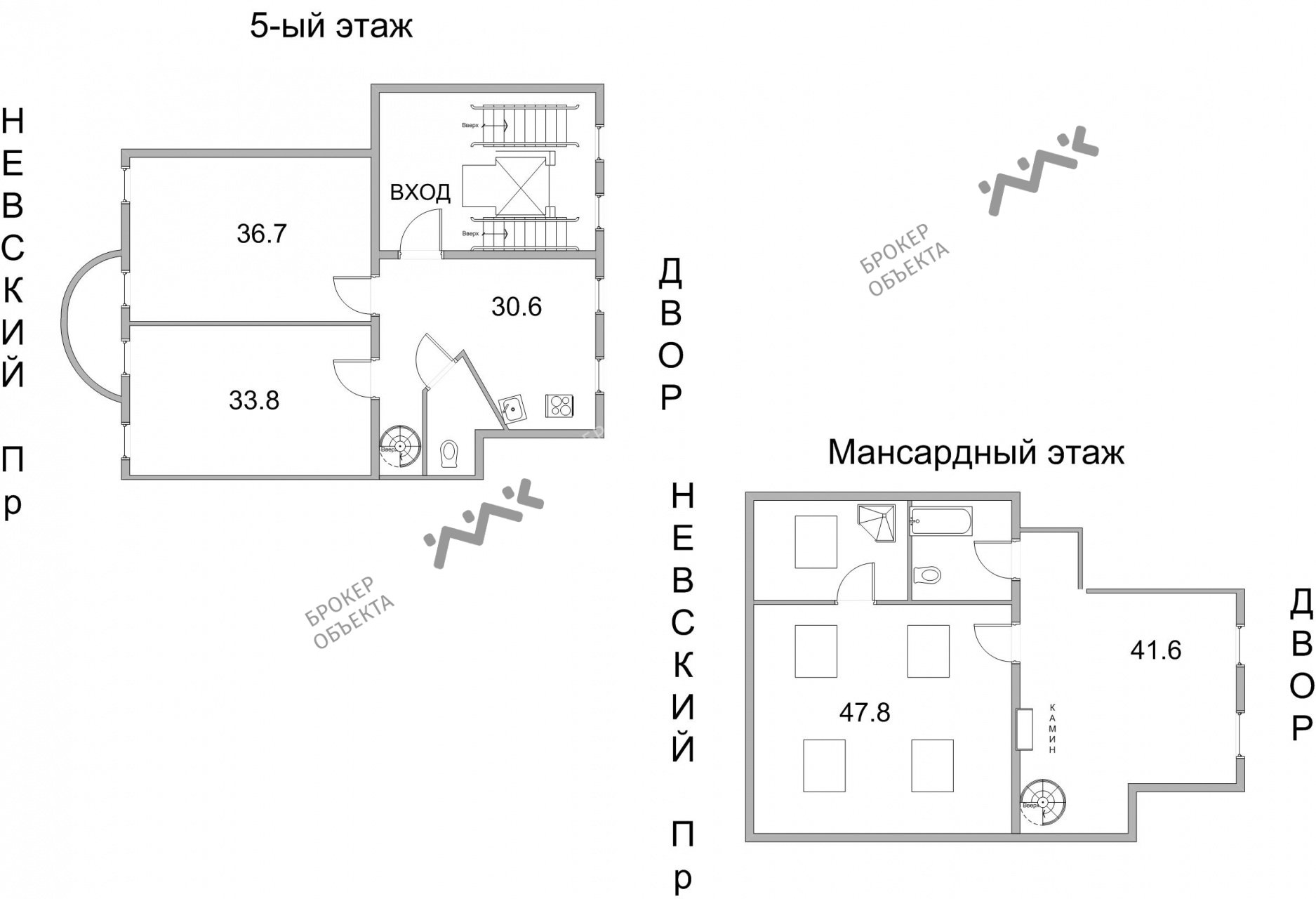 Планировка Караванная ул., д.11. Лот № 5434745