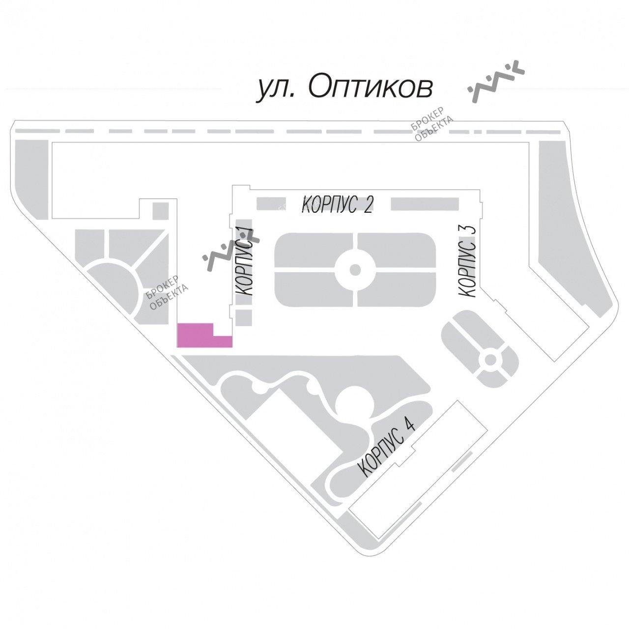 Планировка Оптиков ул., д.34. Лот № 13666640