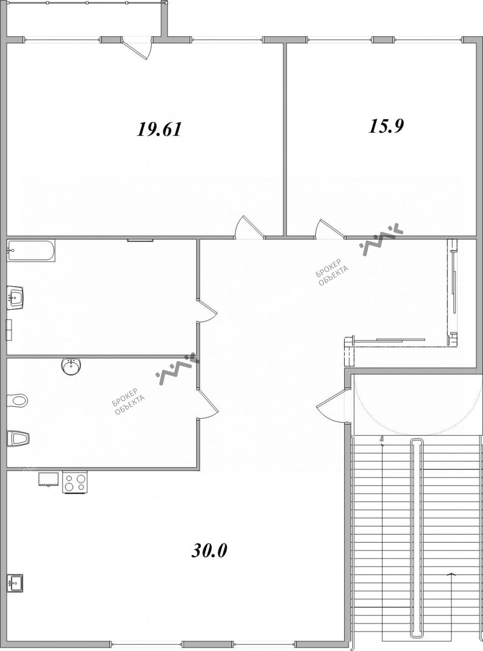 Планировка Невский проспект, д.77. Лот № 2005653