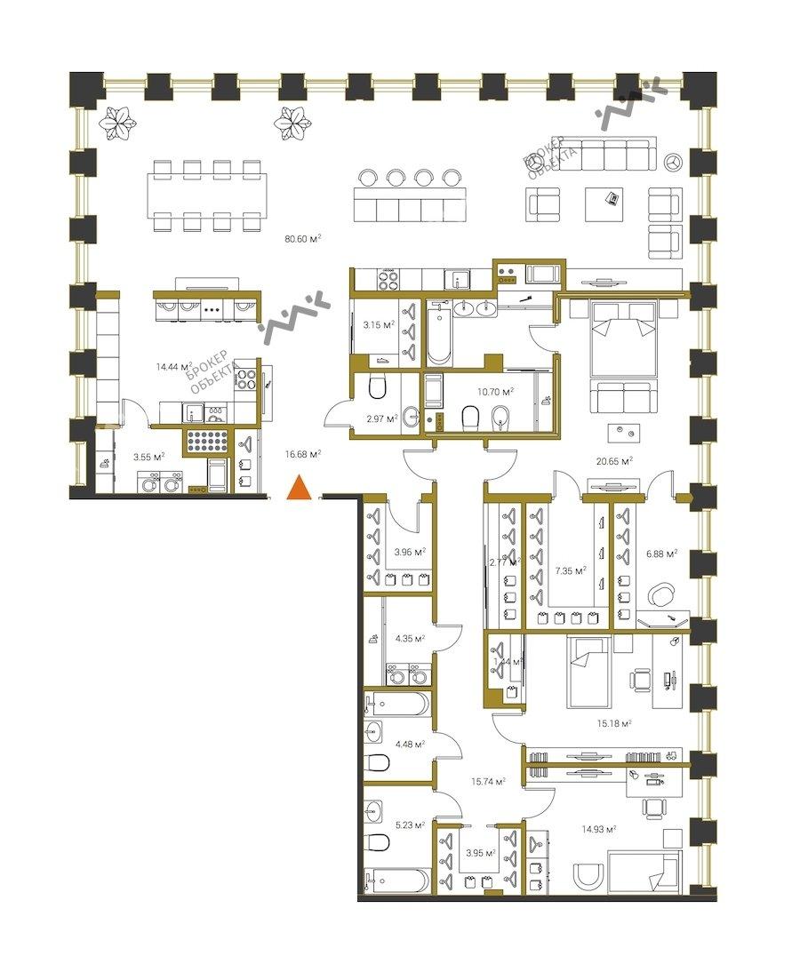 Планировка Институтский проспект, д.16. Лот № f18313219