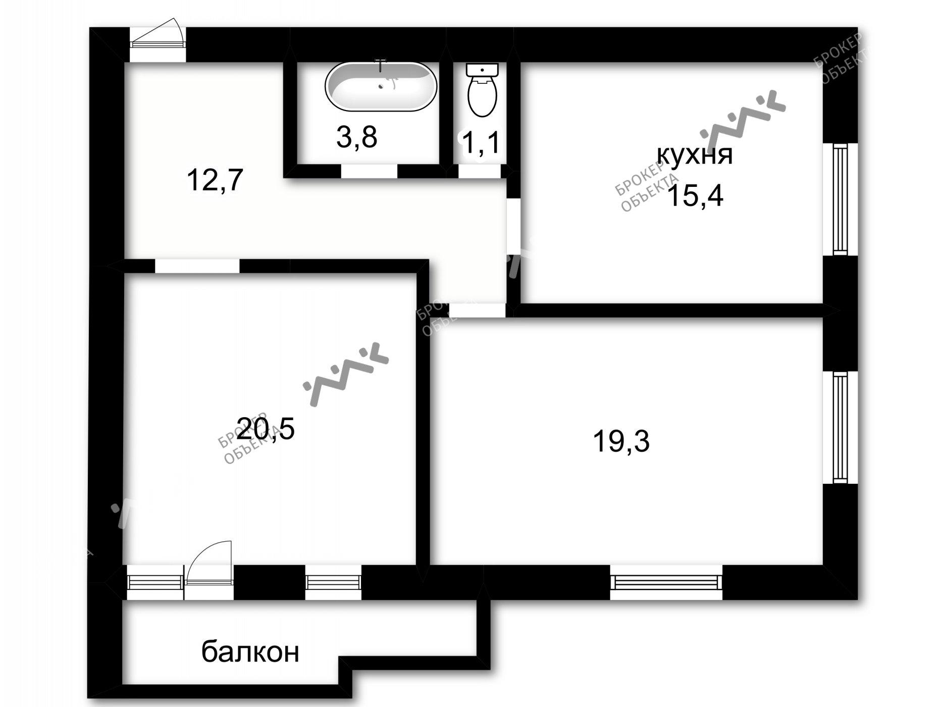 Планировка Московский проспект, д.94, к.1. Лот № 761883