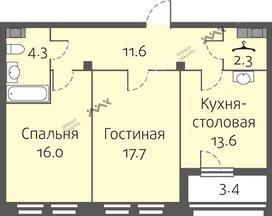 Планировка Кременчугская ул., д.11, к.3. Лот № f3266117