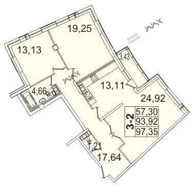 Планировка Пионерская ул., д.50. Лот № f3267611
