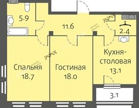 Планировка Кременчугская ул., д.11, к.3. Лот № f3266093