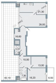 Планировка Пискаревский пр., д.1. Лот № f3268664
