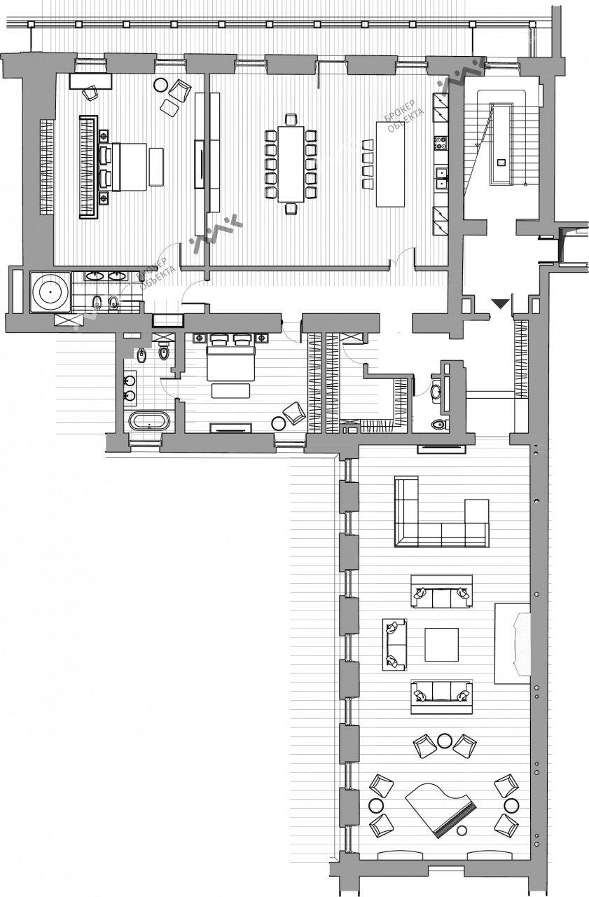 Планировка Кутузова наб., д.24. Лот № 5283371