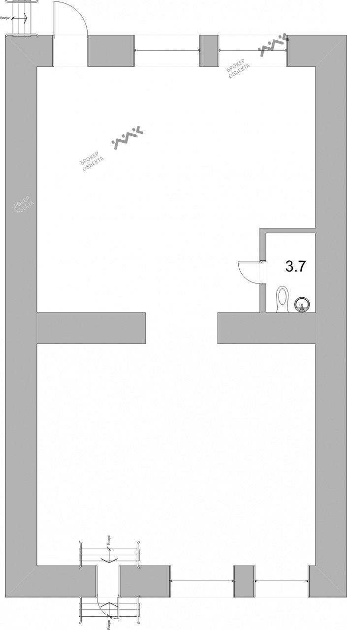 Планировка Конная ул., д.12. Лот № 1551042