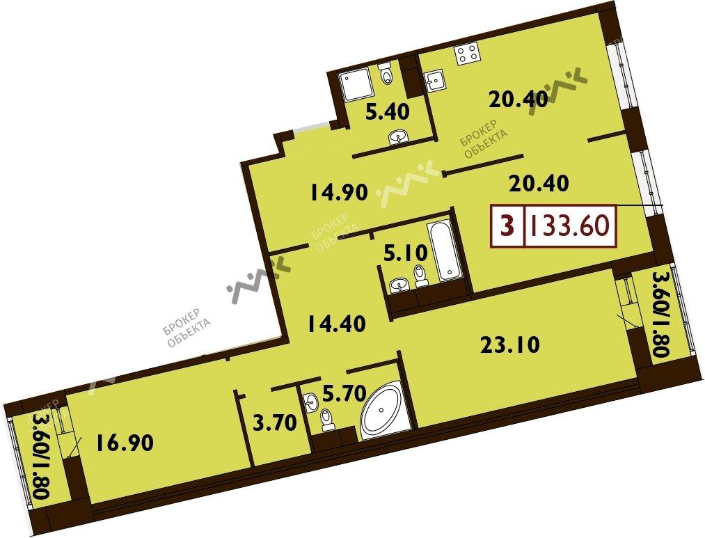 Планировка Смоленская ул., д.14. Лот № f3268860