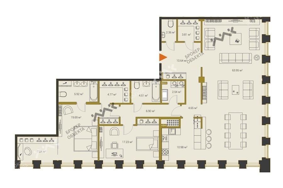 Планировка Институтский проспект, д.16. Лот № f18313224