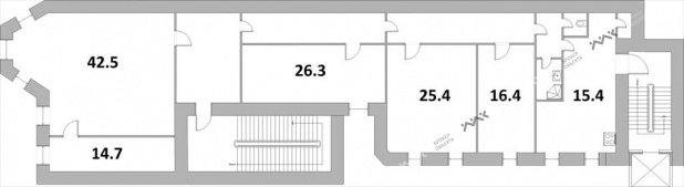 Планировка 6-я В.О. линия, д.41, лит.А. Лот № 889202