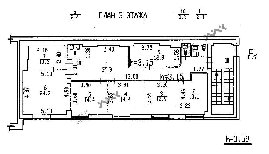 Планировка Минеральная ул., д.13. Лот № 3467404