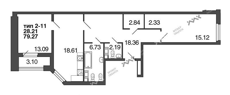 Планировка Полтавская, д.7. Лот № f3272793