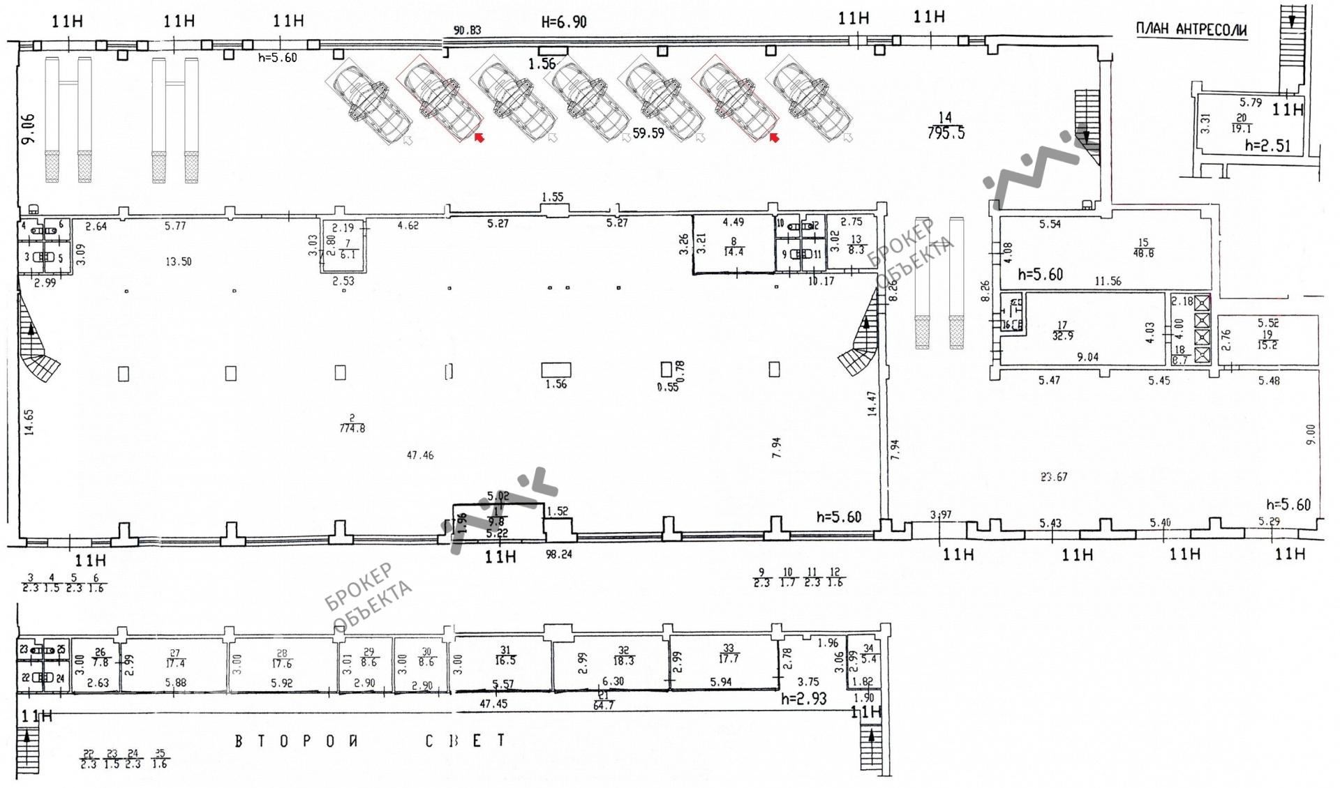 Планировка Непокоренных проспект, д.49. Лот № 753763