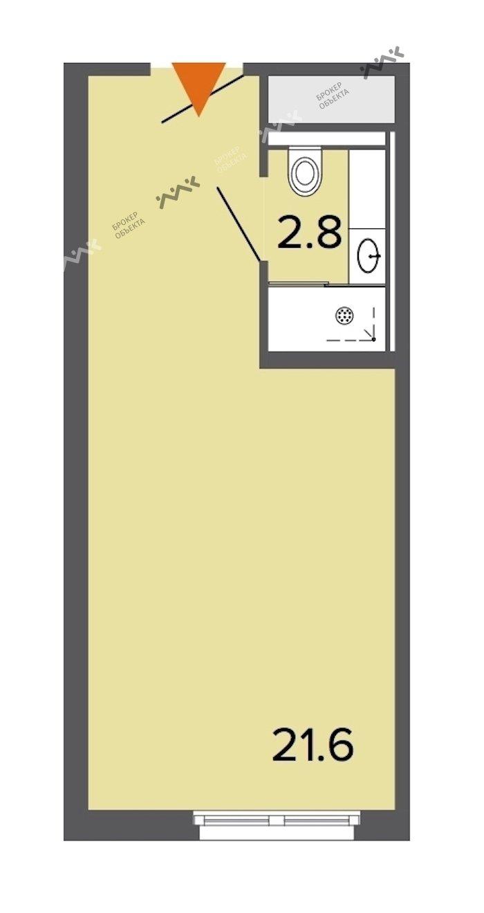 Планировка Заозерная ул., д.1. Лот № f18169434