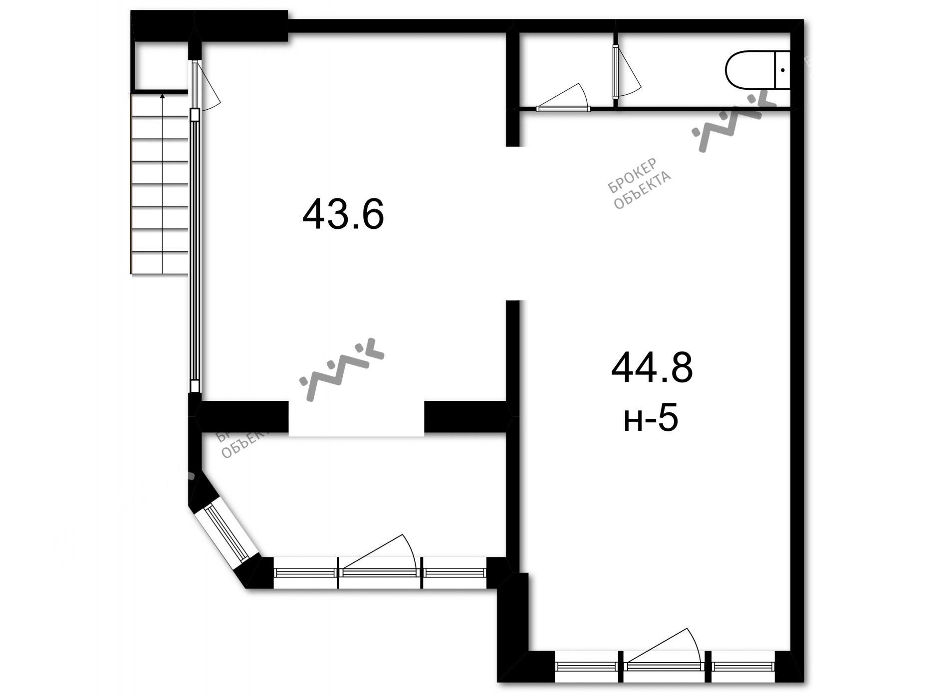 Планировка Большеохтинский проспект, д.9. Лот № 1777094