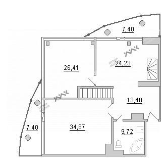 Планировка Киевская ул., д.3. Лот № 21118612