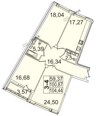 Планировка Пионерская ул., д.50. Лот № f3267625