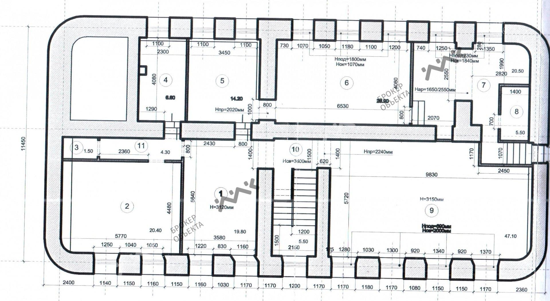 Планировка Невский проспект, д.64. Лот № 758786