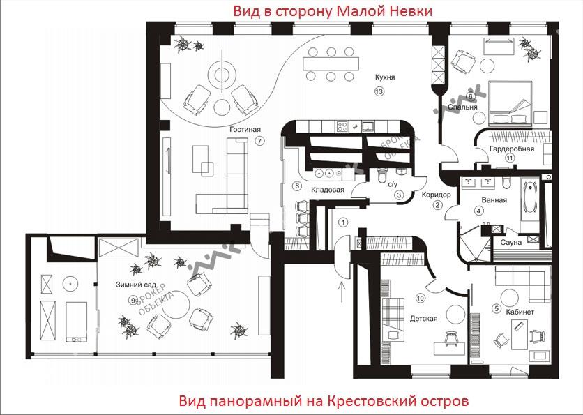 Планировка Вязовая ул., д.10. Лот № 4158027