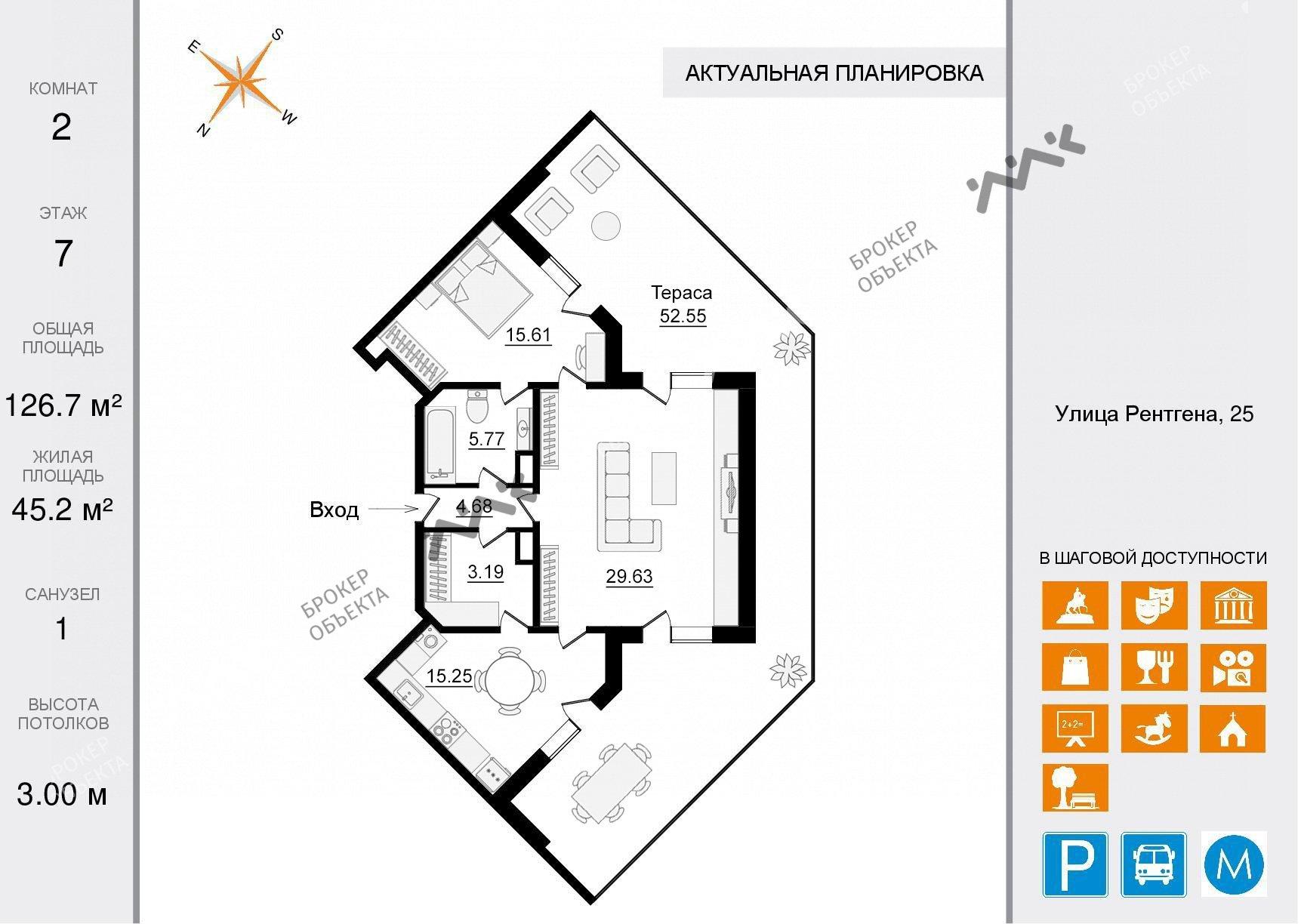 Планировка Чапаева ул., д.28. Лот № 34376718
