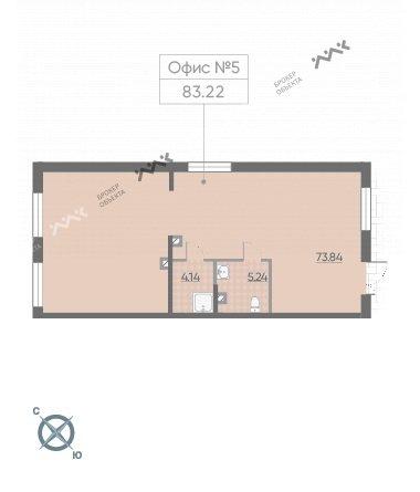 Планировка Черной речки наб., д.3, к.3, лит.А. Лот № 42240125