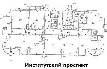 Планировка Институтский пр., д.11. Лот № 1678844