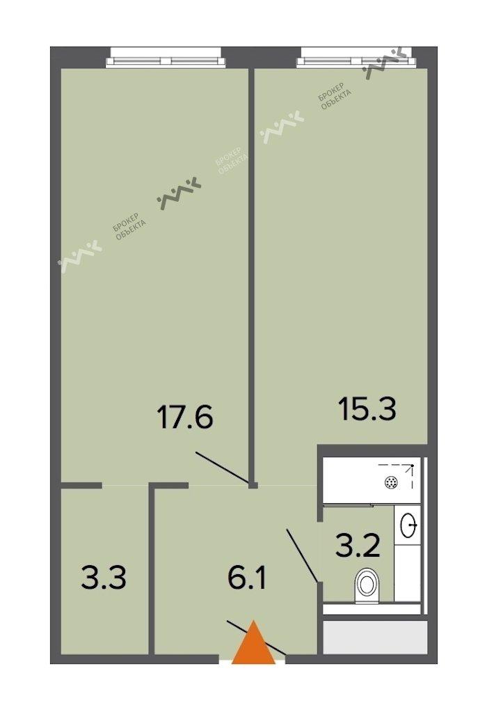 Планировка Заозерная ул., д.1. Лот № f18169465